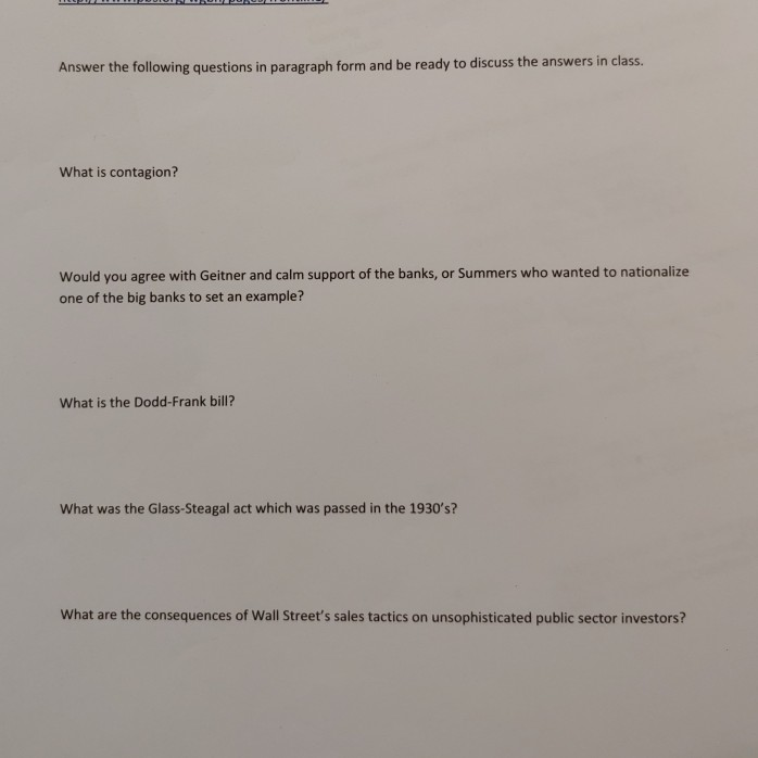 Solved Answer The Following Questions In Paragraph Form A Chegg Com