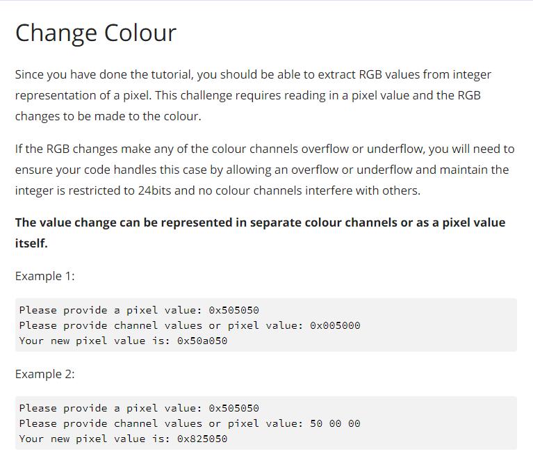 Solved: Python 3: Change Colour, The Program Should Also A