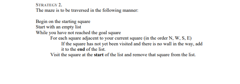 Solved: Part A: Traversing A Maze Consider The Following M