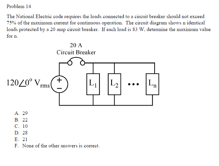Solved Problem 14 The National Electric Code Requires The Chegg Com