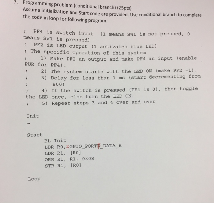 Solved: Programming Problem (conditional Branch) Assume In ...