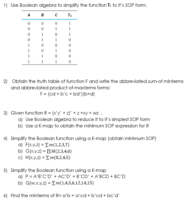 simplest form 12/14  Solved: 14) Use Boolean Algebra To Simplify The Function Ti ...