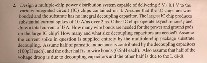 Design A Multiple-chip Power Distribution System C