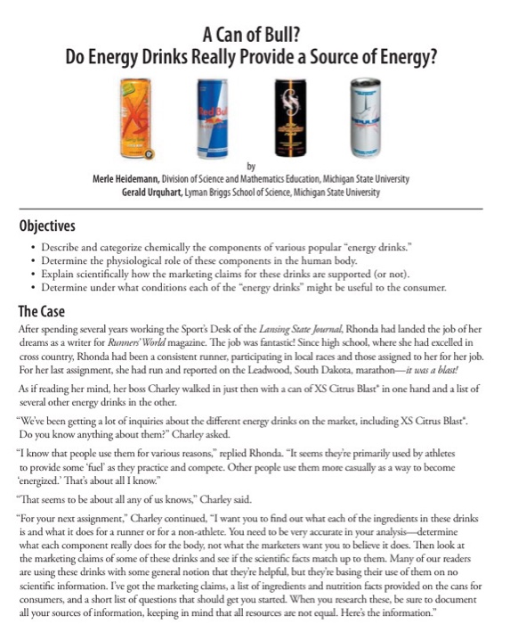 Do You Know What You Really Want Fluid Magazine: Solved: A Can Of Bull? Do Energy Drinks Really Provide A S