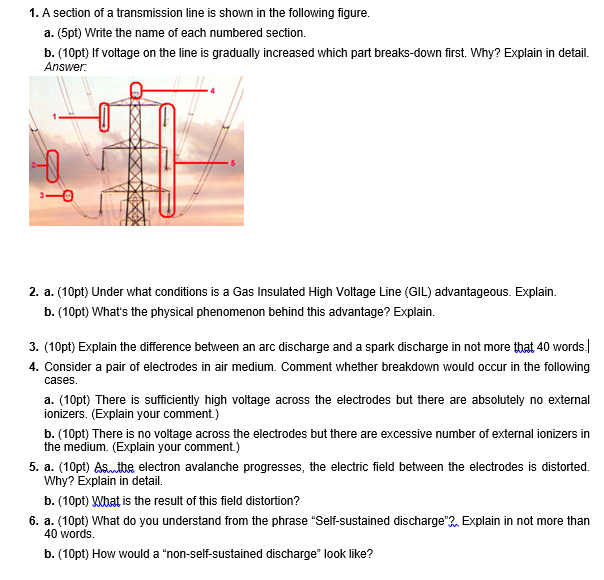 Solved: 1  A Section Of A Transmission Line Is Shown In Th