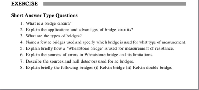 Solved: EXERCISE Short Answer Type Questions 1  What Is A