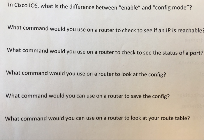 Solved: In Cisco LOS, What Is The Difference Between