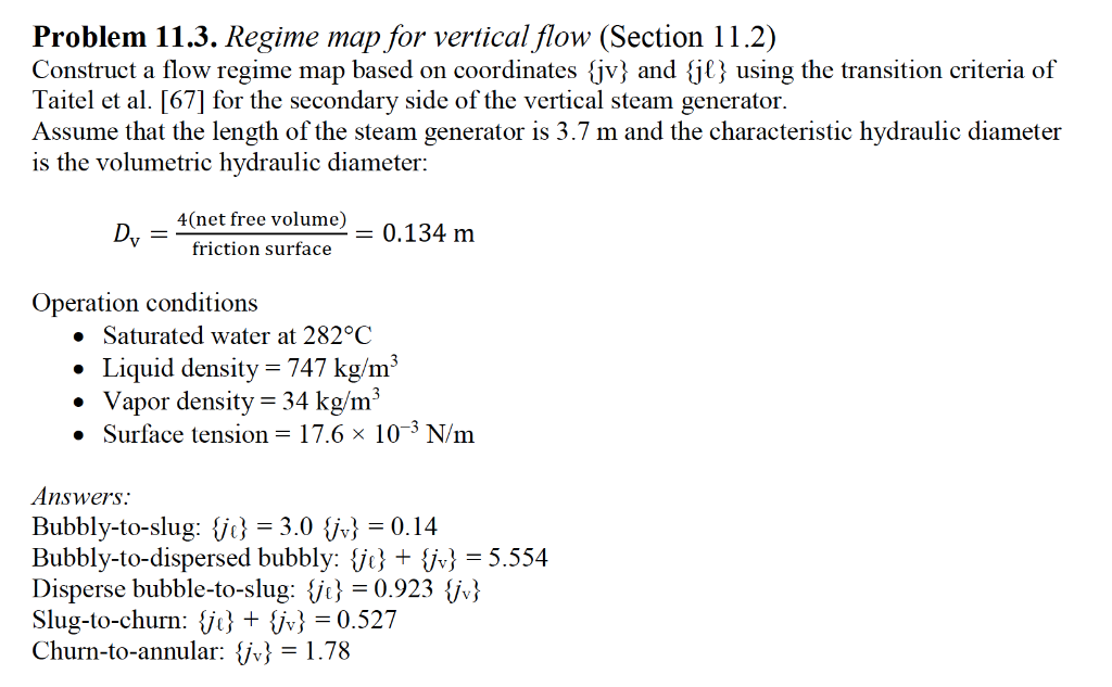 Problem 11 3  Regime Map For Vertical Flow (Sectio    | Chegg com