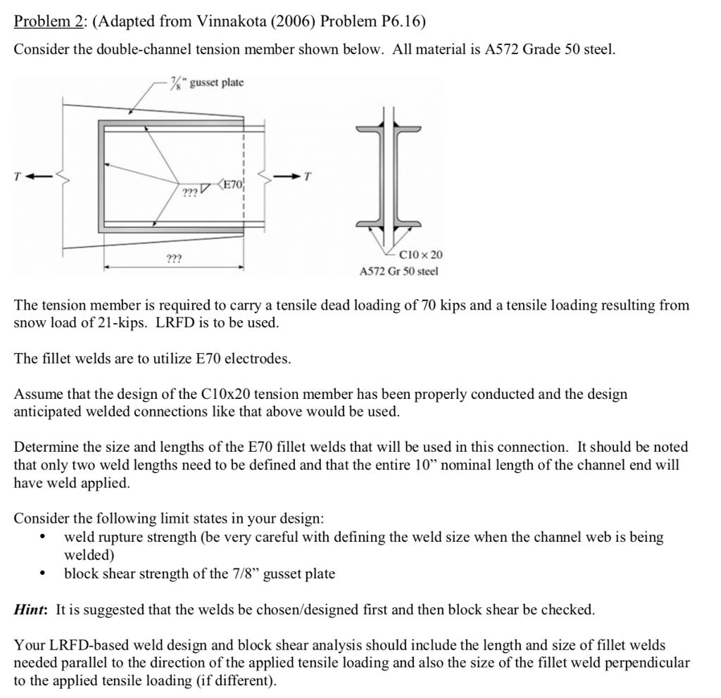 Solved: Problem 2: (Adapted From Vinnakota (2006) Problem