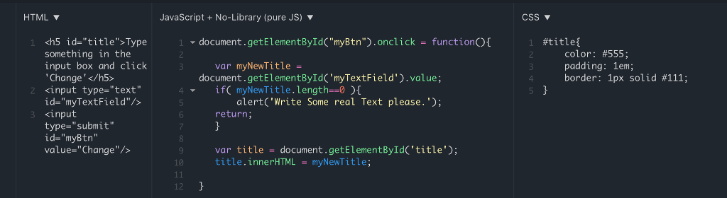Im Using JS Fiddle And I Am Trying To Reproduce Th
