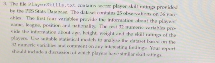 3  The File Playerskills txt Contains Soccer Playe
