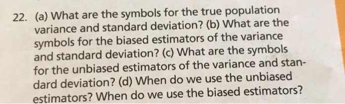 Solved A What Are The Symbols For The True Population V