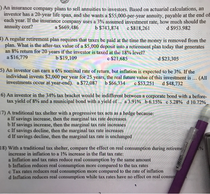 solved an insurance company plans to sell annuities to in