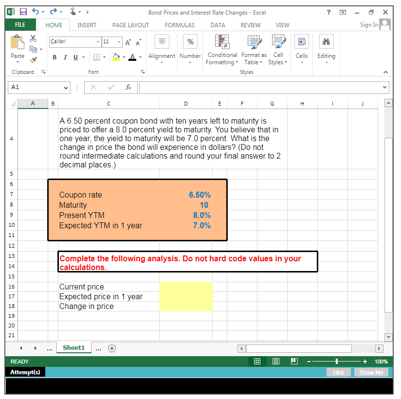 Solved: Answer Has To Be In The Form Of An Excel Formula | Chegg com