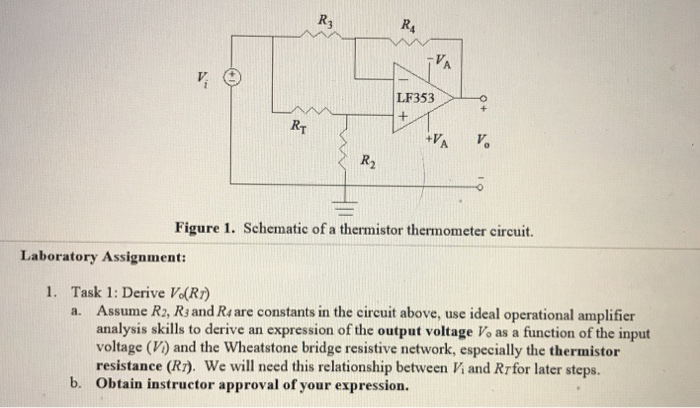 Cool Solved R4 Lf353 R2 Figure 1 Schematic Of A Thermistor Th Wiring 101 Orsalhahutechinfo