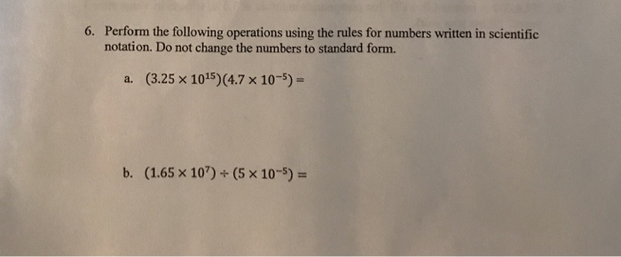 Solved Perform The Following Operations Using The Rules F