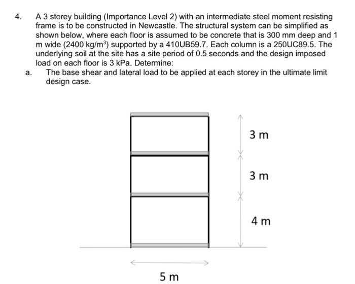 Solved: 4. A 3 Storey Building (Importance Level 2) With A ...