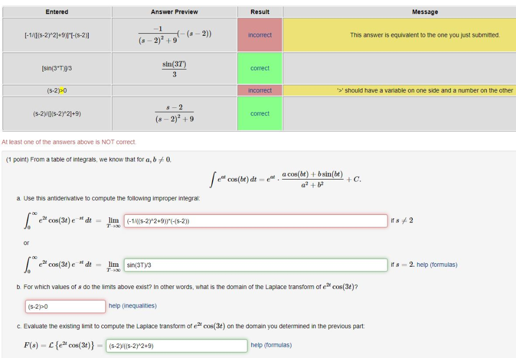 solved from a table of integrals we know that for a b 0a rh chegg com