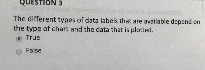 Solved Question 3 The Different Types Of Data Labels That