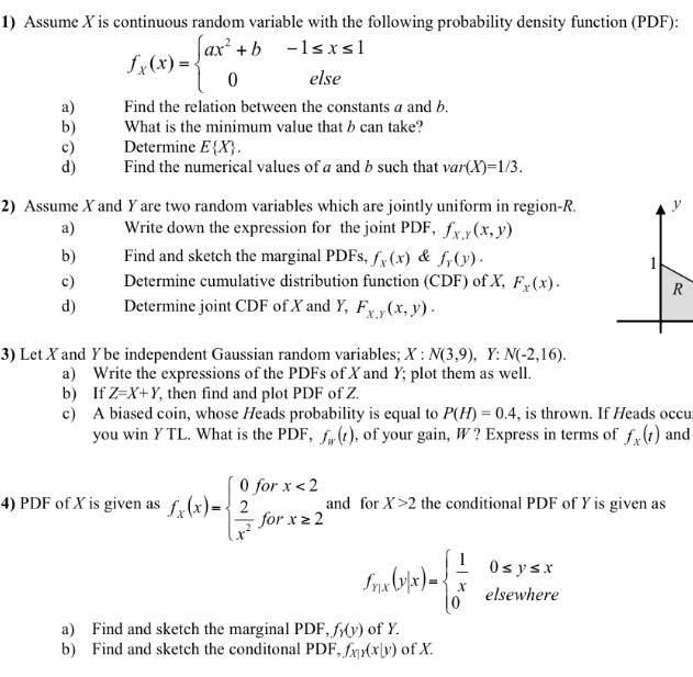 continuous probability distribution problems and solutions pdf