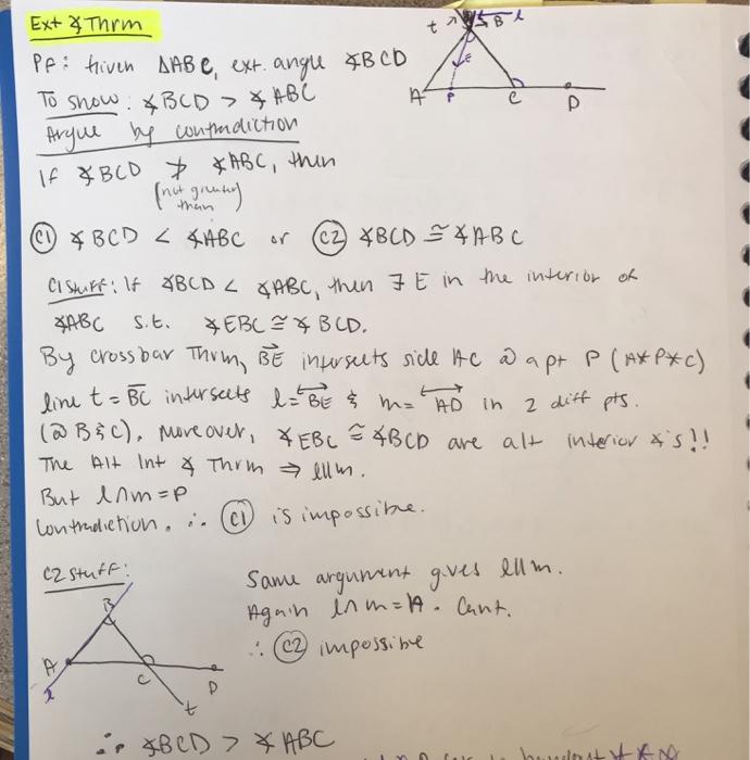 Solved: Prove The Alternate Interior Angle Theorem By Usin...   Chegg.com