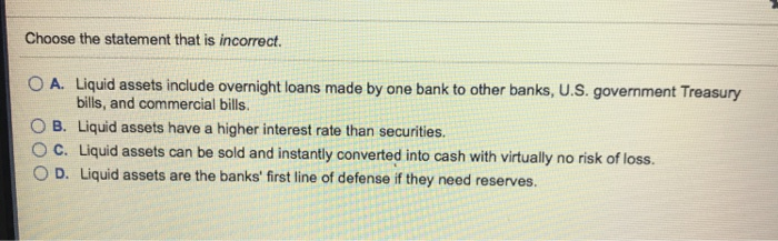 Do Liquid Assets Include Overnight Loans