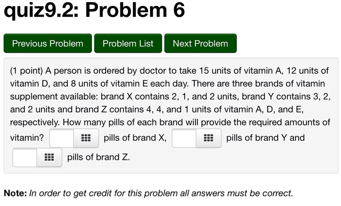 Solved: Q U1z9 2:Problem 6 Previous Problem Problem List N