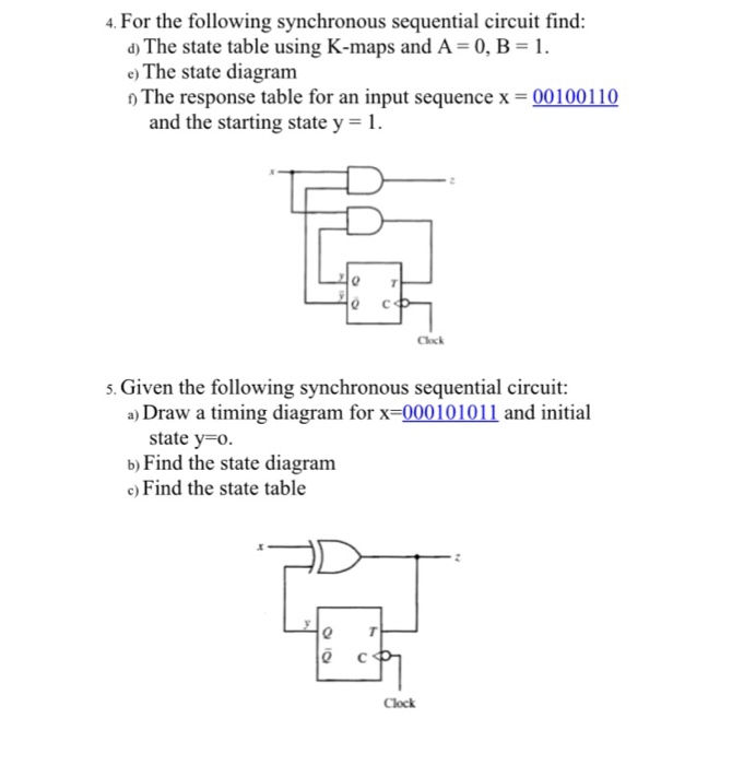 solved for the following synchronous sequential circuit f rh chegg com