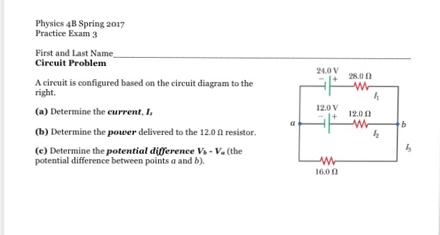 Solved: A Circuit Is Configured Based On The Circuit Diagr