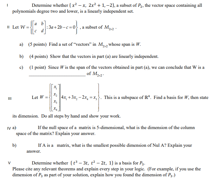 Solved Having Hard Time With Linear Algebra Right Now Ca Chegg Com