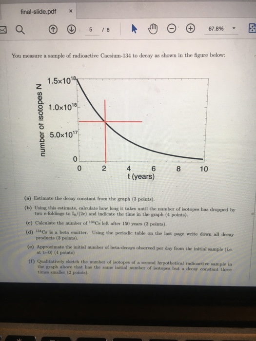 Solved: Final-slide pdf X You Measure A Sample Of Radioact
