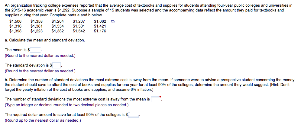 solved an organization tracking college expenses reported