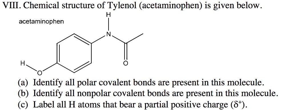 chemical structure of tylenol acetaminophen is given below acetaminophen a