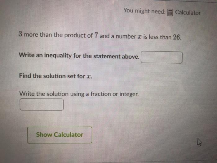 Solution Set Of Inequality Calculator