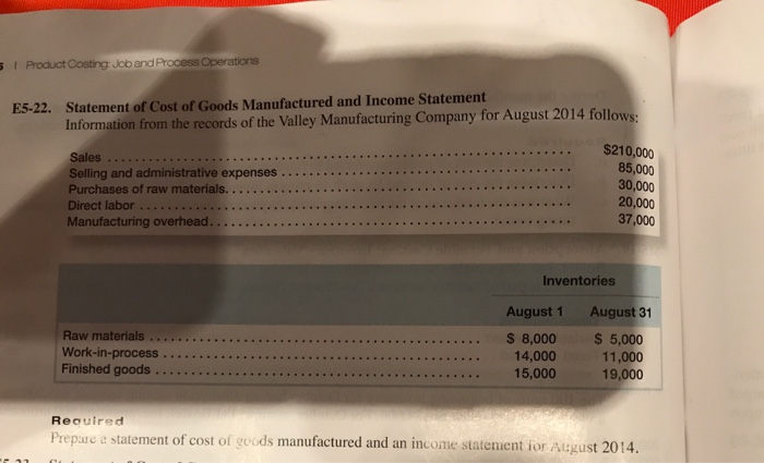 Accounting archive july 07 2017 chegg i product costing job and process operations statement of cost of goods manufactured and income fandeluxe Choice Image