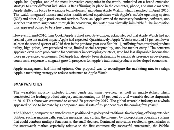 Solved: Research Paper Title: Apple Watch-Managing Innovat