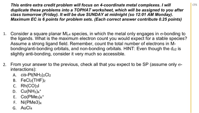 Solved This Entire Extra Credit Problem Will Focus On 4 C