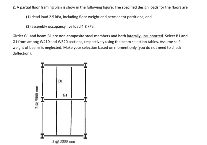 2  A Partial Floor Framing Plan Is Show In The Fol