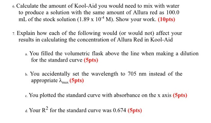 lab activity kool aid concentration key