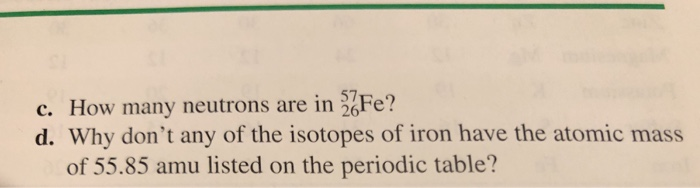 Four Naturally Occurring Isotopes