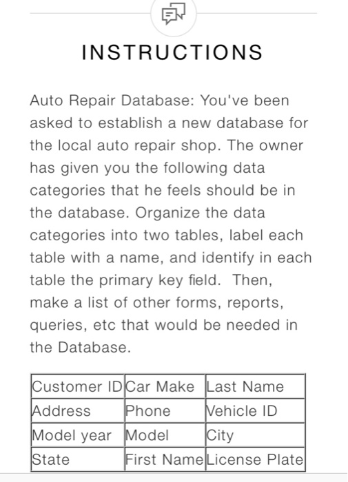 solved instructions auto repair database you ve been ask