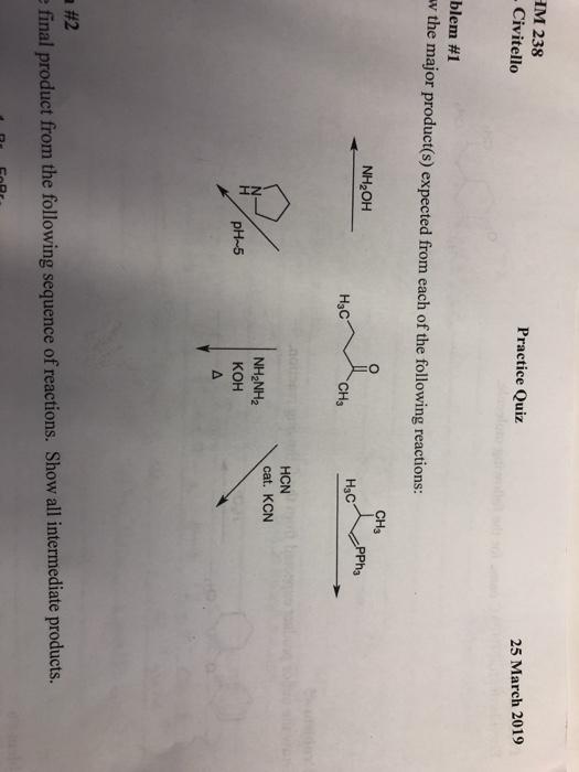 Solved: M 238 Civitello Practice Quiz 25 March 2019 Blem