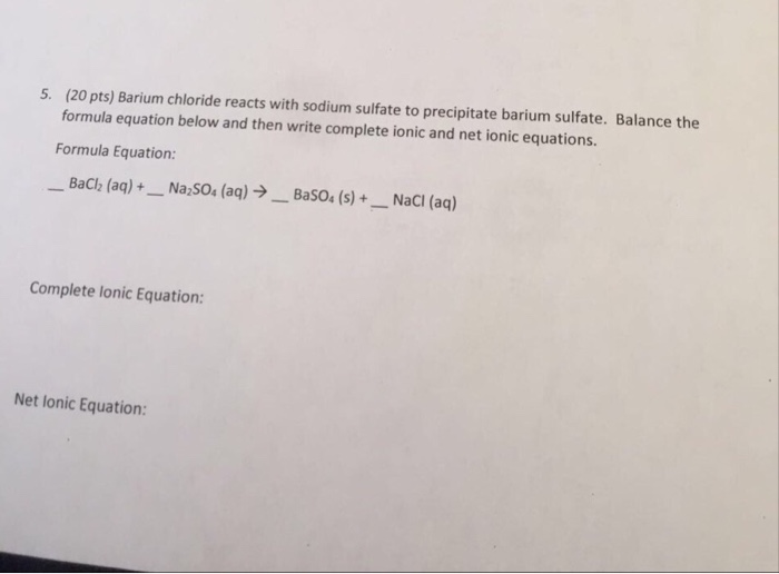 Write The Chemical Formula For Barium Sulfate Best Photos About