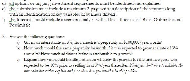 Solved: Financial Forecasting Assignment 1  Forecast Shoul
