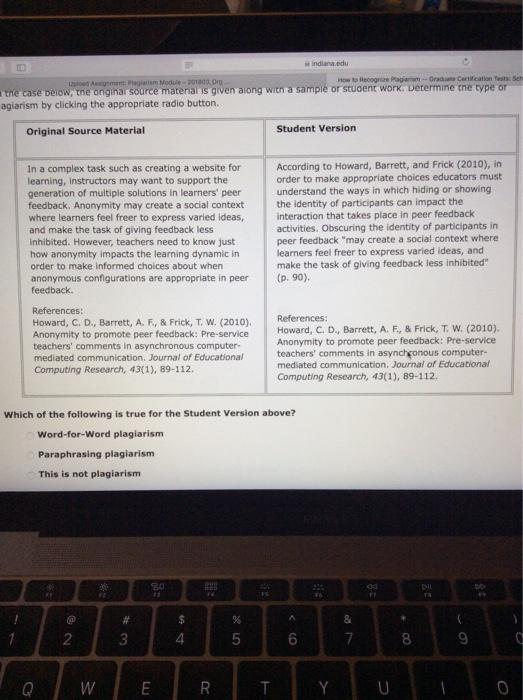 Solved: Indiana.edu How To Recognize Plagiarism- Graduate ...