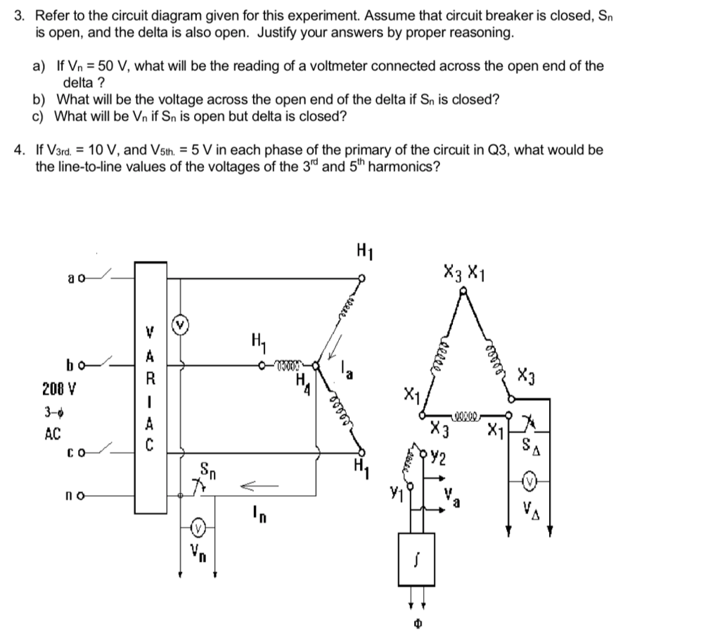 Solved 3 Refer To The Circuit Diagram Given For This Exp Open Series Experiment Assume That Breaker