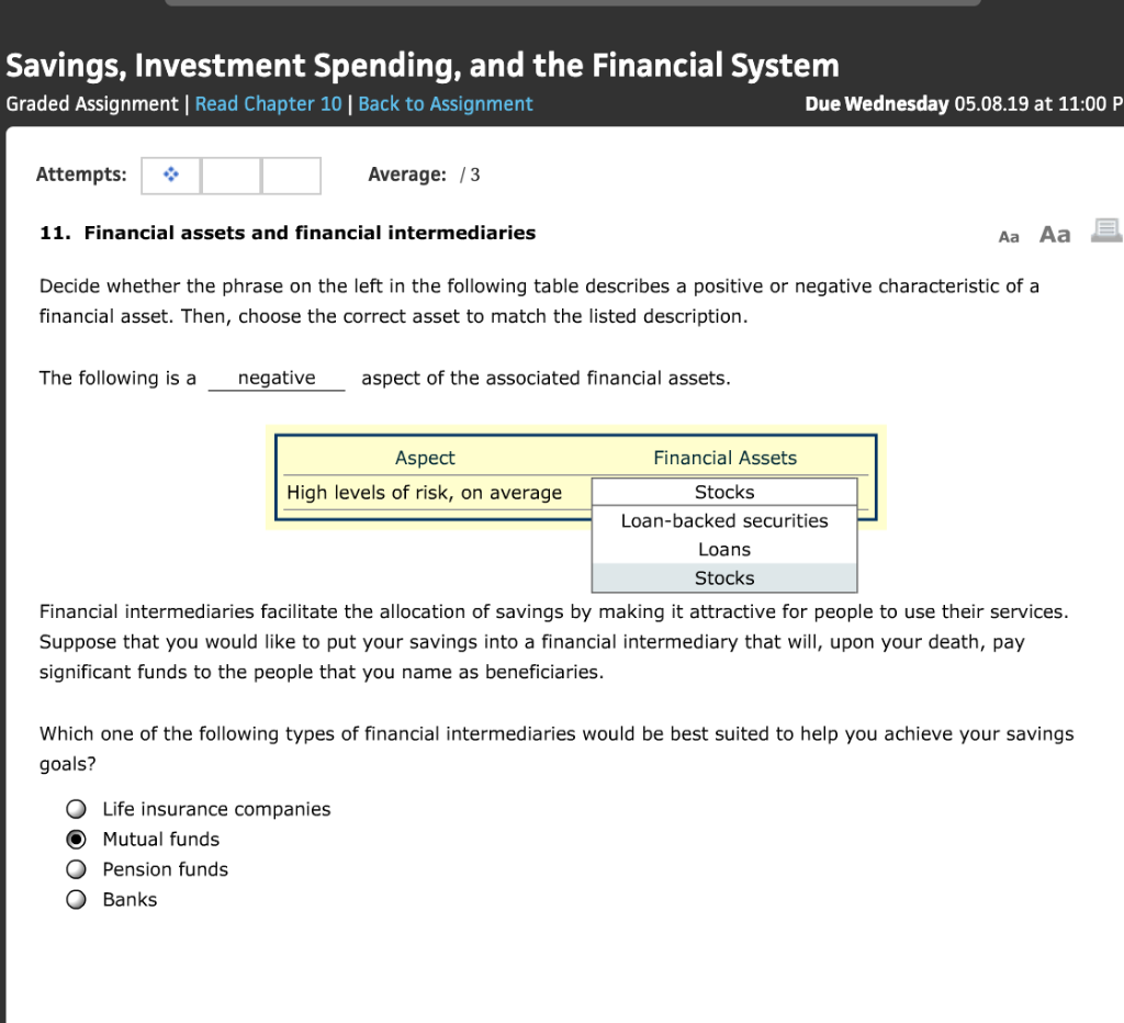 Savings, Investment Spending, And The Financial Sy
