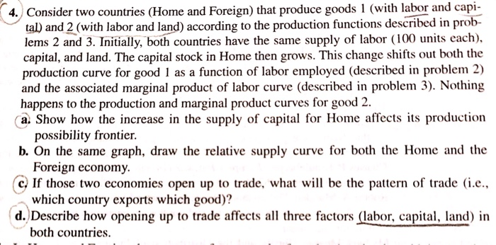 Economics recent questions chegg 4 consider two countries home and foreign that produce goods 1 with fandeluxe Choice Image