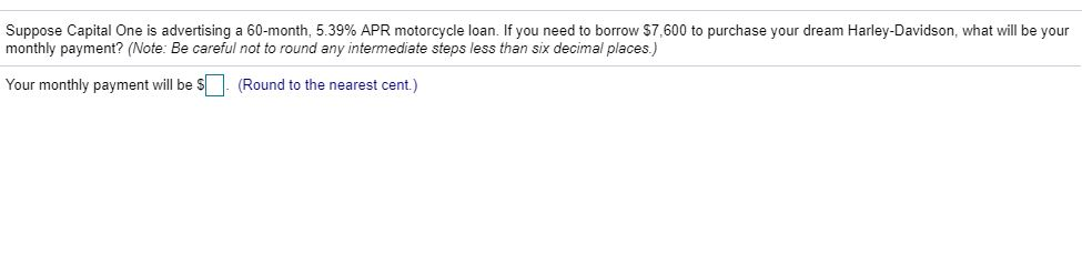 Capital One Motorcycle Loans >> Solved Suppose Capital One Is Advertising A 60 Month 5