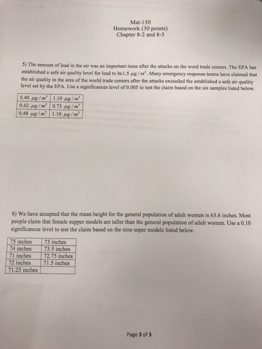 Solved: Mat-150 Homework (30 Points) Chapter 8-2 And 8-3 3